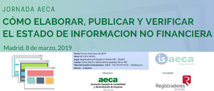 Jornada 8 Marzo - Cómo elaborar,publicar y verificar el Estado de Información No Financiera
