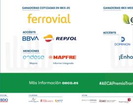 FERROVIAL y ENCE ganan el XX Premio AECA a la Transparencia Empresarial