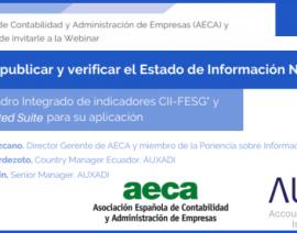 Invitación a la webinar de AECA y AUXADI