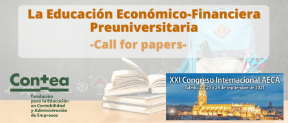 "Call for papers ""La Educación Económico-Financiera Preuniversitaria"""