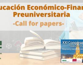 """Call for papers """"La Educación Económico-Financiera Preuniversitaria"""""""