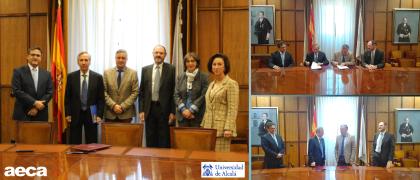 Acuerdo entre la Universidad de Alcalá y AECA para la difusión del fondo bibliográfico de la Asociación