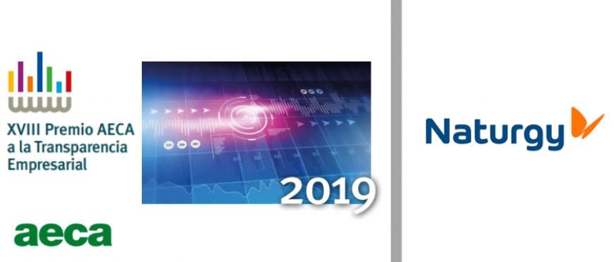 Naturgy Premio AECA a la Transparencia Empresarial 2019