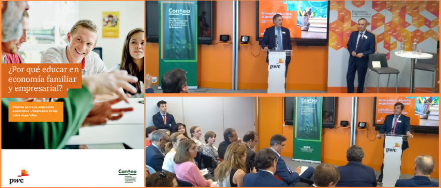 Presentación del Informe «¿Por qué educar en economía familiar y empresarial?»