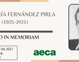 Acto in Memoriam. José María Fernández Pirla (1925-2021)