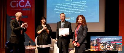 Homenaje al presidente de AECA en el Congreso CICA 2019