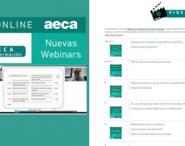 Nuevos cursos disponibles en la Videoteca de Formación AECA