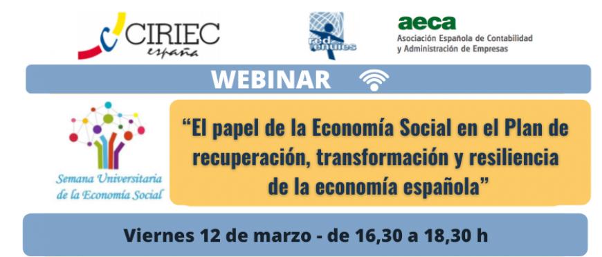 CIRIEC-ESPAÑA y AECA debaten sobre el papel de la Economía Social en la recuperación