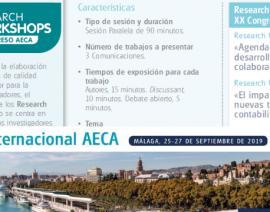 Petición de Comunicaciones para el XX Congreso Internacional AECA Málaga'19